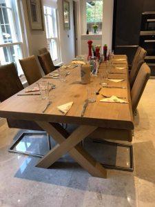 Maatwerk tafel Houten